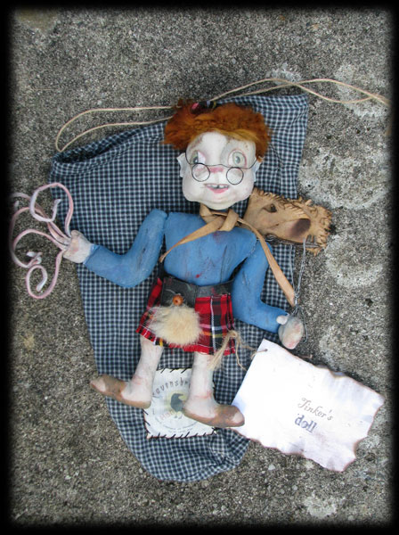 Tinker the ghost doll's grungy travelling sack